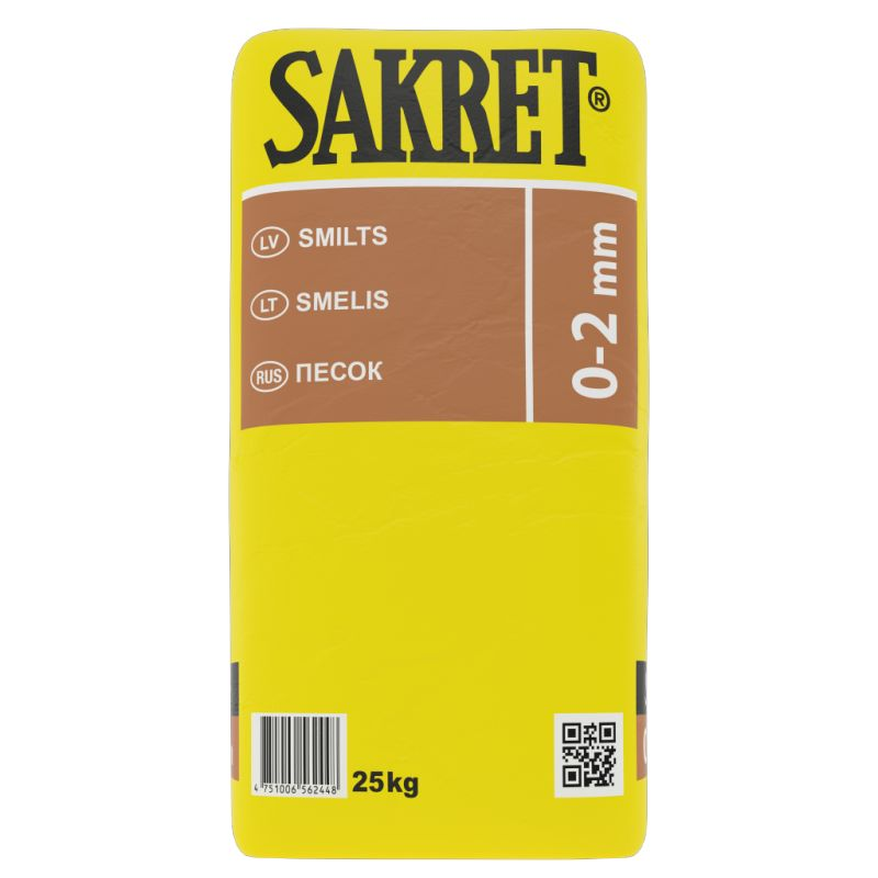 SAKRET Smilts frakcija 0-2mm,